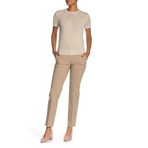 THEORY Tailored Pant Travel Wool Taupe Crop